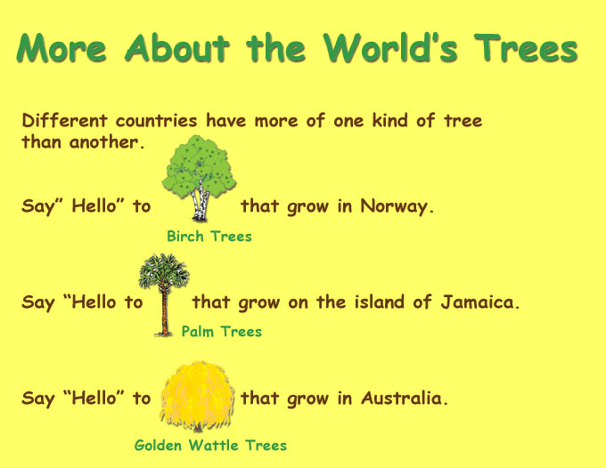 Visit other parts of the treeture site go green messages for parents